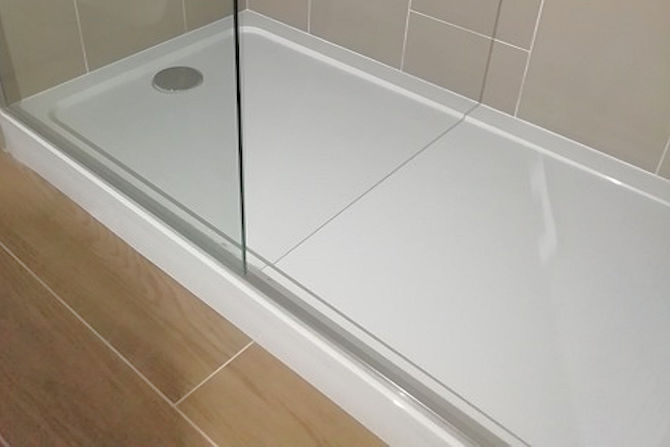 Non slip shower base